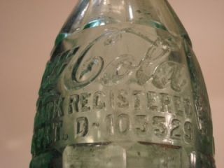 Vintage Coca Cola Bottle Hinesville Georgia Trade Marked Pat D 105529