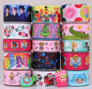 15 Yards Mixed Christmas Candy Princess Peppa Pig Grosgrain Ribbon