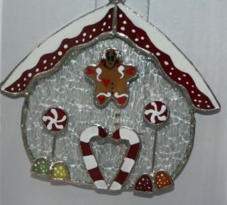 Stained Glass Gingerbread Night Light Cover Christmas Holiday