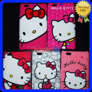 iPod Touch 3 Gen 3G 3rd 2 2G 2nd Hello Kitty Hard Back Skin Case Cover