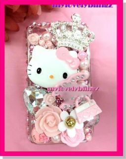 Hello Kitty iPhone 4 4G 4S Pink Bling Cell Phone Case Cover