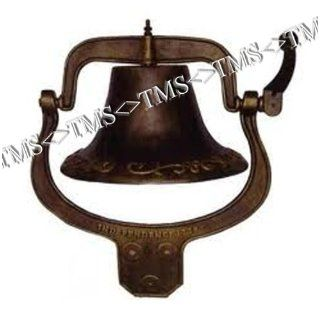 Large Vintage Cast Iron Farm School Church Dinner Bell