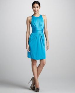 dress available in azure $ 588 00 issa london silk wrap waist dress