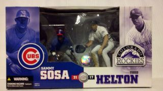 Deluxe Sammy Sosa VS Todd Helton MLB 2 Pack Figures Special Edition