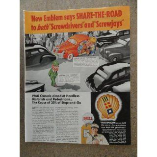 Shell oil co. , Vintage 40s full page print ad