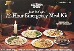 72 Hour Emergency Meal Kit Mountain House Freeze Dried Food