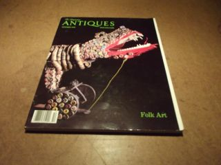 Antiques Magazine Folk Art Issue Hemphill Collection Hooked Rugs More
