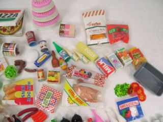 Littles Play Food Dolls Doll House Grocery Groceries Works w/Barbie