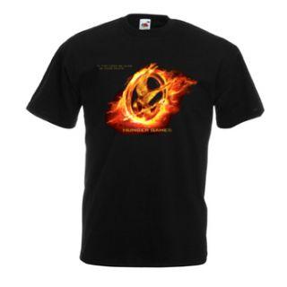 The Hunger Games 2012 movie Mockingjay Fire Bird Logo Symbol Tee T