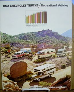 1972 72 Chevy Chevrolet RV Truck Recreation Dealership Sales Brochure