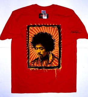 JIMI HENDRIX GRAPHIC RED YELLOW HOT TOPIC LARGE SIZE T SHIRT NEW