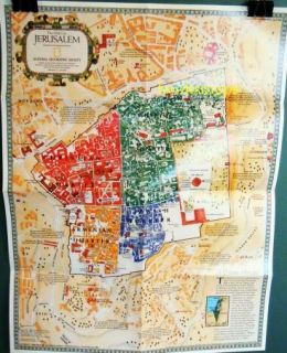 of Jerusalem City 1996 National Geographic Israel West Bank Holy Land