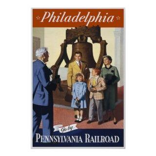 Vintage Philadelphia Pennsylvania Railroad Posters