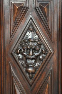 Great Antique French Carved Walnut Henry II Renaissance Style