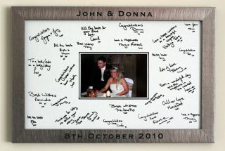 Personalised Framed Wedding Signature Signing Board Guest Book