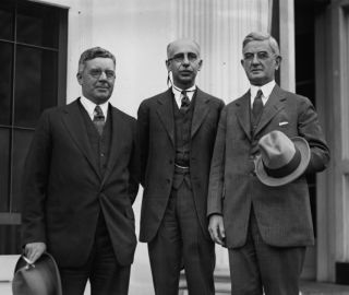 1924 Photo Harry Young Henry C Dawes and James B McDougal at w H 11 12