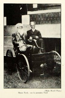 1929 Print Henry Ford First Car Automobile Historical Quadricycle
