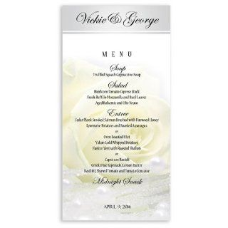 25 Wedding Menu Cards   Vanilla Rose n Pearls: Office