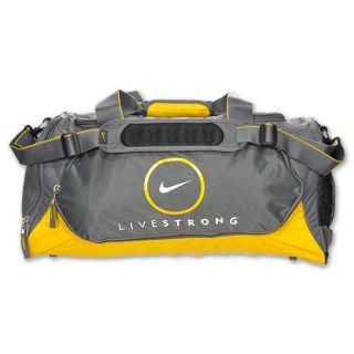 Nike LIVESTRONG Medium Duffel Bag Grey/Maize