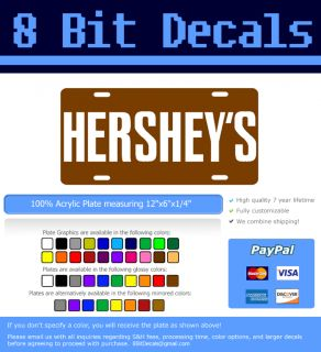 Hershey Candy Bar Chocolate License Plate Auto Tag