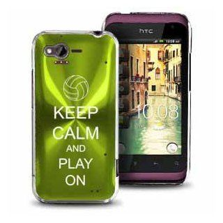Green HTC Rhyme Bliss Aluminum Plated Hard Back Case Cover