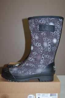 UGG Australia Short Multi Logo Boot in Black Size 5 9 Womens Rain