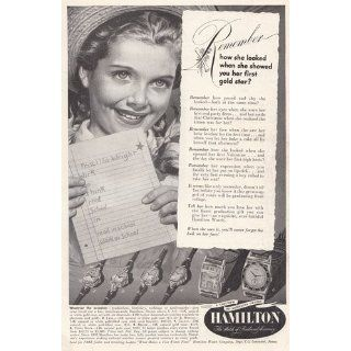 Print Ad 1949 Hamilton Watches Gold Star Hamilton Watch