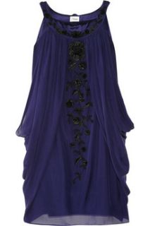 Temperley London Embroidered silk mini dress   85% Off