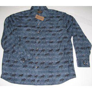 Mens Marino Bay Wildlife Cotton Flannel Shirt XL