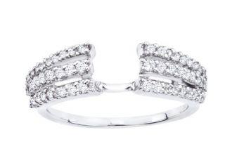 14k White Gold Round Diamond Solitaire Engagement Ring