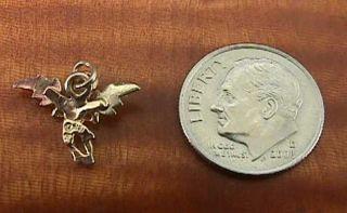 Vintage Black Hills Gold Angel 10K PENDANT Charm