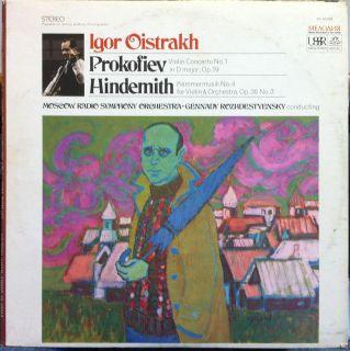 IGOR OISTRAKH prokofiev hindemith violin LP Mint  SR 40068 Vinyl
