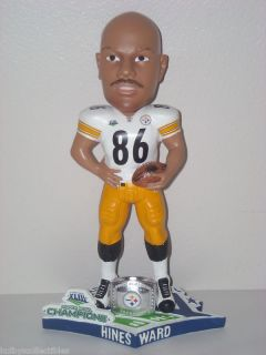 HINES WARD Pittsburgh Steelers Bobble Head 2009 Super Bowl XLIII