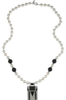 Kenneth Jay Lane Bead and faux pearl necklace