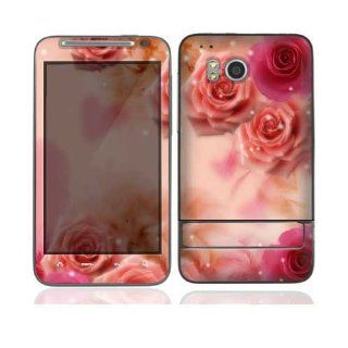 Pink Roses Protective Skin Cover Decal Sticker for HTC