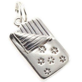 Sterling Silver Sleeping Bag Charm Jewelry