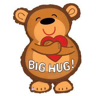 Cute Big Hug Bear Valentines Day 28 Mylar Balloon Toys