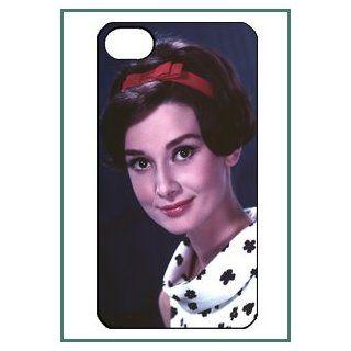 Audrey Hepburn iPhone 4 iPhone4 Black Designer Hard Case