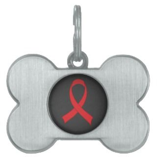Orange Ribbon Awareness Leukemia Support Pet Tag