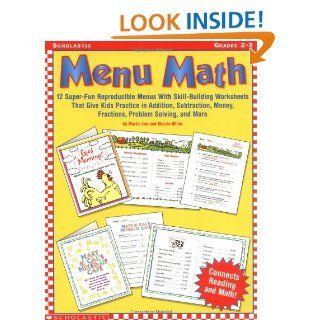 Menu Math, Grades 2 3 Martin Lee, Marcia Miller 0078073227259