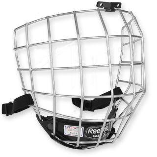 New Reebok 5K Hockey Helmet Cages   Silver   Sr