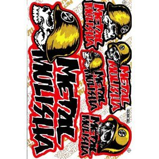 Metal Mulisha Helmet Vinyl Decal Sticker Sheet M06