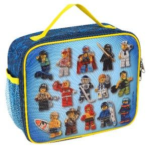 Lego City Minifigures 3D Lunch Bag Box Tote Minifig Figures Series 1 2