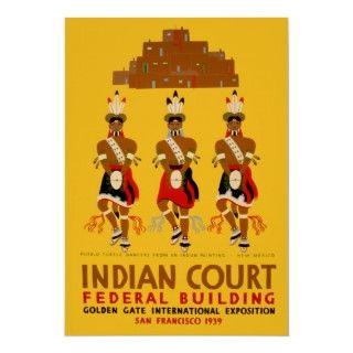 Indian Court ~ Native American Art Exposition Posters