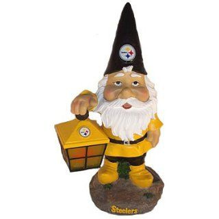 Pittsburgh STEELERS SOLAR Light Up Garden GNOME New Gift