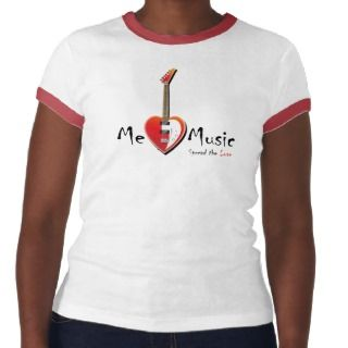 MeLoveMusic Womens Ringer Top Tee Shirts