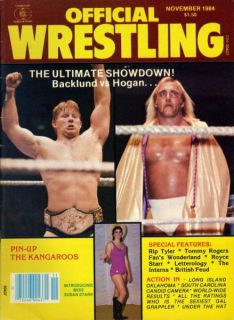 Hulk Hogan Official Wrestling Magazine Nov 1984 Bob Backlund Susan
