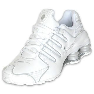 Boys Gradeschool Nike Shox NZ White/Platinum