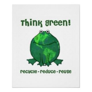 Think green and show the world with this cute frog poster.Jamie Wogan