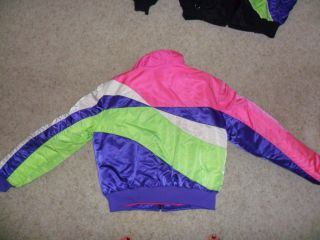 ARCTIC CAT SNOWMOBILE JACKET windbreaker set bright neon colors womens